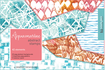 AQUAMARINE Abstract Stamp