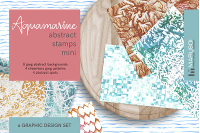 AQUAMARINE Abstract Stamp Mini