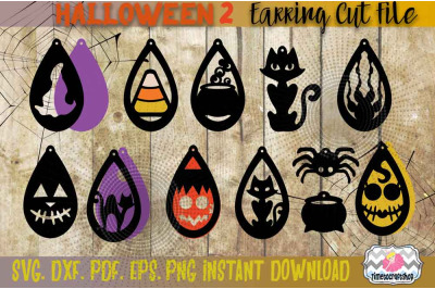 SVG, DXF, PDF, PNG, and EPS Halloween Bundle 3, Witch Hat, Ghost, Blac