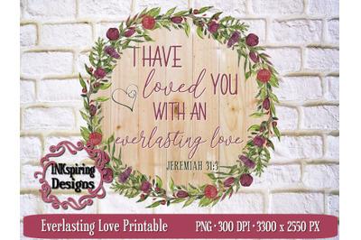 Everlasting Love PNG, JPG Printable
