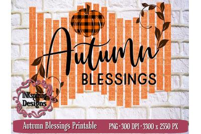 Autumn Blessings PNG, JPG Printable