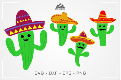 Cactus Fiesta Cinco De Mayo Svg Cuttable Design