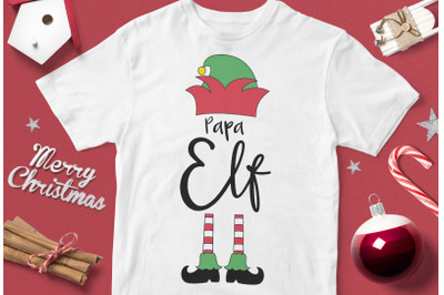 Papa elf - funny christmas quotes svg