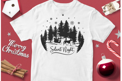 Silent Night - funny christmas quotes svg