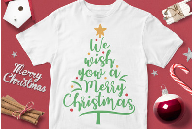 We Wish You A Merry Christmas - funny christmas quotes svg