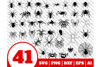 41 SPIDER SVG BUNDLE - spider clipart - spider vector - spider cricut