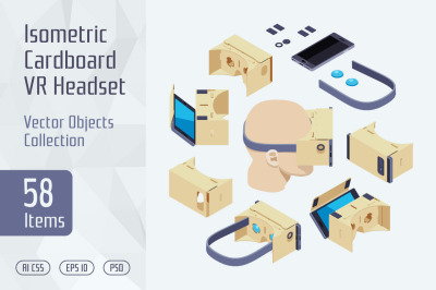 Isometric Cardboard VR Headset
