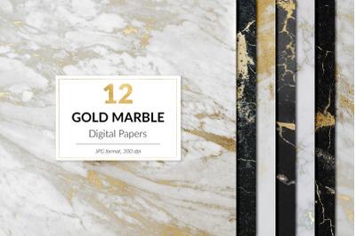 Gold Marble Digital Paper