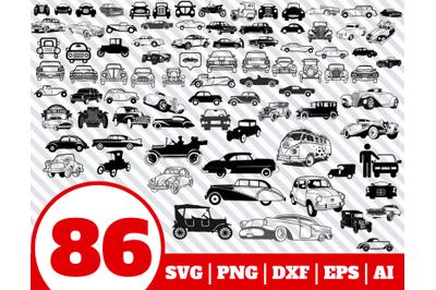 86 Vintage Car SVG BUNDLE - Vintage Car clipart - Vintage Car vector