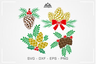 Pinecone Christmas Svg Cuttable Design