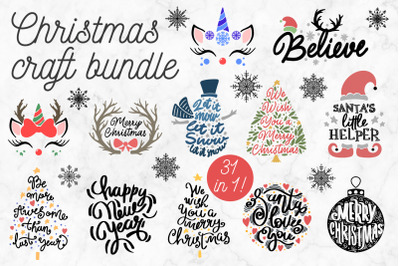 31 Christmas products in 1 craft Bundle! 90 OFF!!!