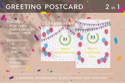 World Gratitude Day - September 21