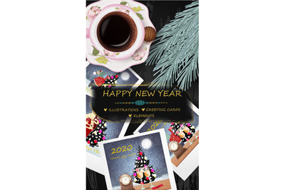 Happy New Year set