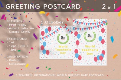 World Teacher's Day - October 05