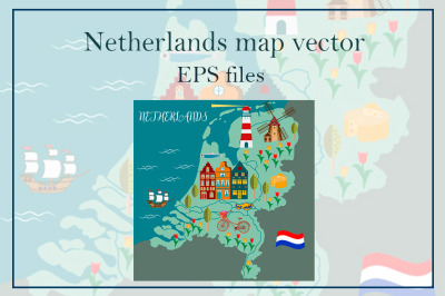 Netherlands Vector Map