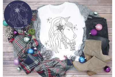 Christmas Unicorn Christmas Magic Holiday Svg