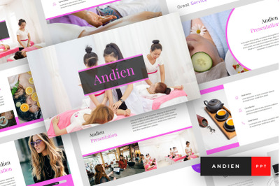 Andien - Spa & Beauty PowerPoint Template