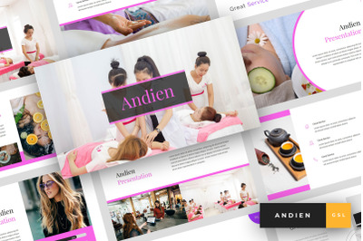 Andien - Spa & Beauty Google Slides Template