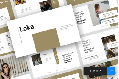 Loka - Fashion Keynote Template