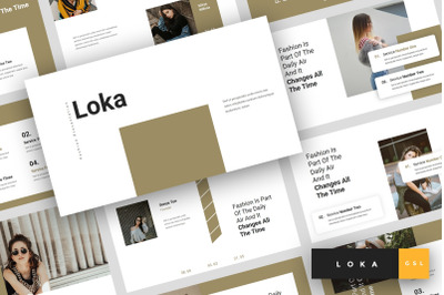 Loka - Fashion Google Slides Template