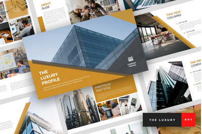 The Luxury - Pitch Deck PowerPoint Template
