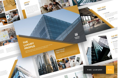 The Luxury - Pitch Deck Google Slides Template