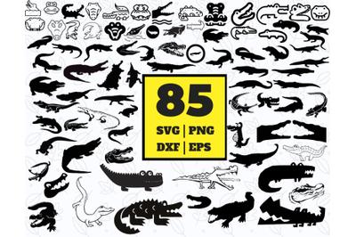 85 CROCODILE SVG BUNDLE - crocodile clipart - crocodile vector