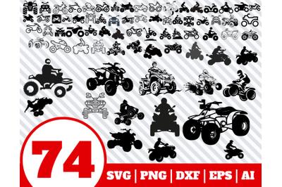 74 Quad Bike SVG BUNDLE - Quad Bike clipart - Quad Bike vector - Quad