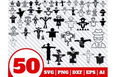 50 SCARECROW SVG BUNDLE - scarecrow clipart - scarecrow vector