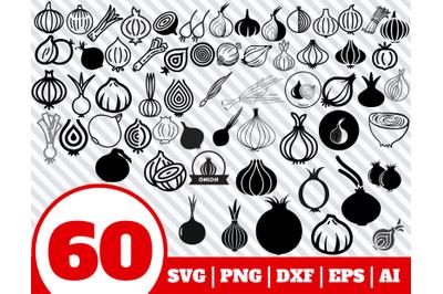 60 ONION SVG BUNDLE - onion clipart - onion vector - onion cricut