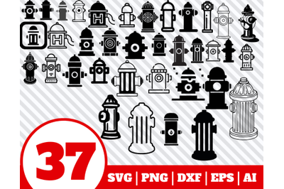 37 HYDRANT SVG BUNDLE - hydrant clipart - hydrant vector - hydrant