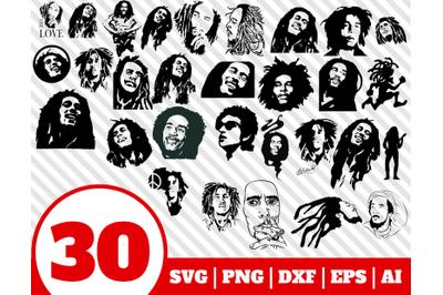 30 BOB MARLEY SVG - bob marley clipart - bob marley vector