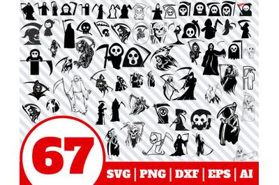 67 GRIM REAPER SVG - grim reaper clipart - grim reaper vector - Skull