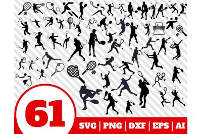 61 TENNIS SVG BUNDLE - tennis clipart - tennis vector - tennis cricut