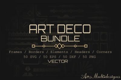 Art deco bundle / art deco bundle svg / art deco vector bundle