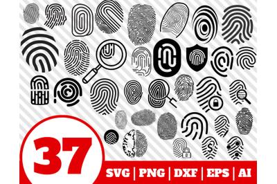 37 FINGERPRINT SVG BUNDLE - fingerprint clipart - fingerprint vector
