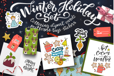 Winter Holiday Graphics Set