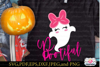 SVG, Eps, Dxf & Png Cutting Files For Ghost Bootiful Cricut and Silhou