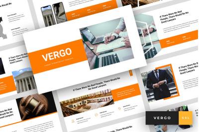 Vergo - Lawyer Google Slides Template