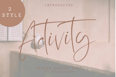 Activity Modern Script Font