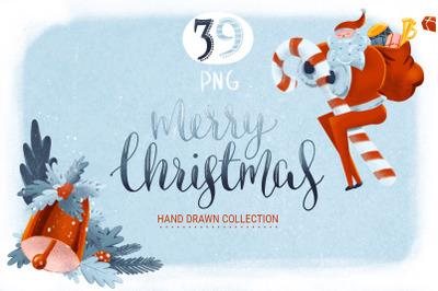 Hand drawn Christmas Graphic Set