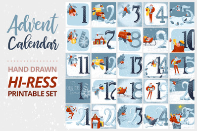 Advent Calendar Printable Set