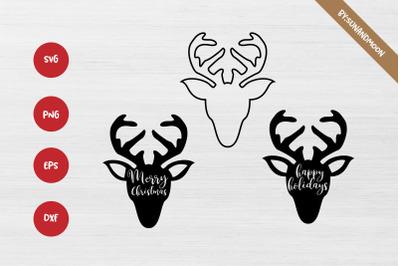 Christmas Reindeer SVG DXF PNG EPS