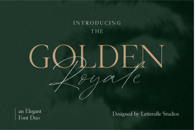Golden Royale Font Duo
