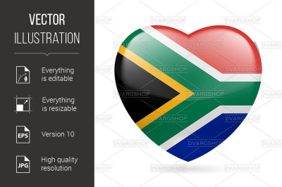 Heart icon of South Africa