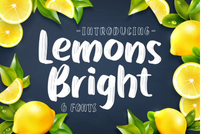 Lemons Bright - Family Display Font -