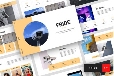 Fride - CCTV PowerPoint Template