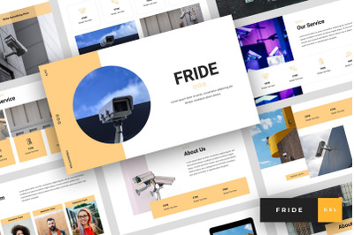 Fride - CCTV Google Slides Template