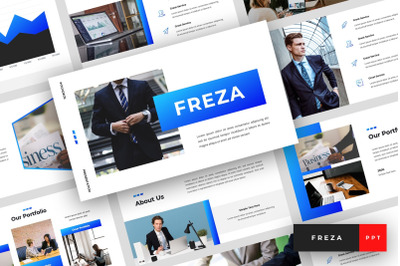 Freza - Pitch Deck PowerPoint Template