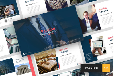 Passion - Lawyer Google Slides Template